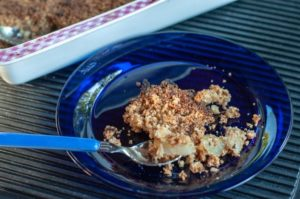 Pear crumble recipe with almond top