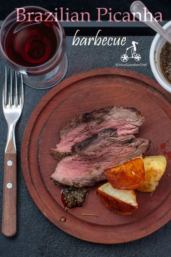 Picanha BBQ is one of the prime cuts in the Brazilian Churrasco, a selection of barbecued beef. It is a very tender cut of beef, covered by a large layer of fat that gives the meat a very special taste. #yourguardianchef #bbqrecipes #barbecue #churrasco #picanha