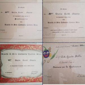 My mother's 4 Cordon Bleu diplomas