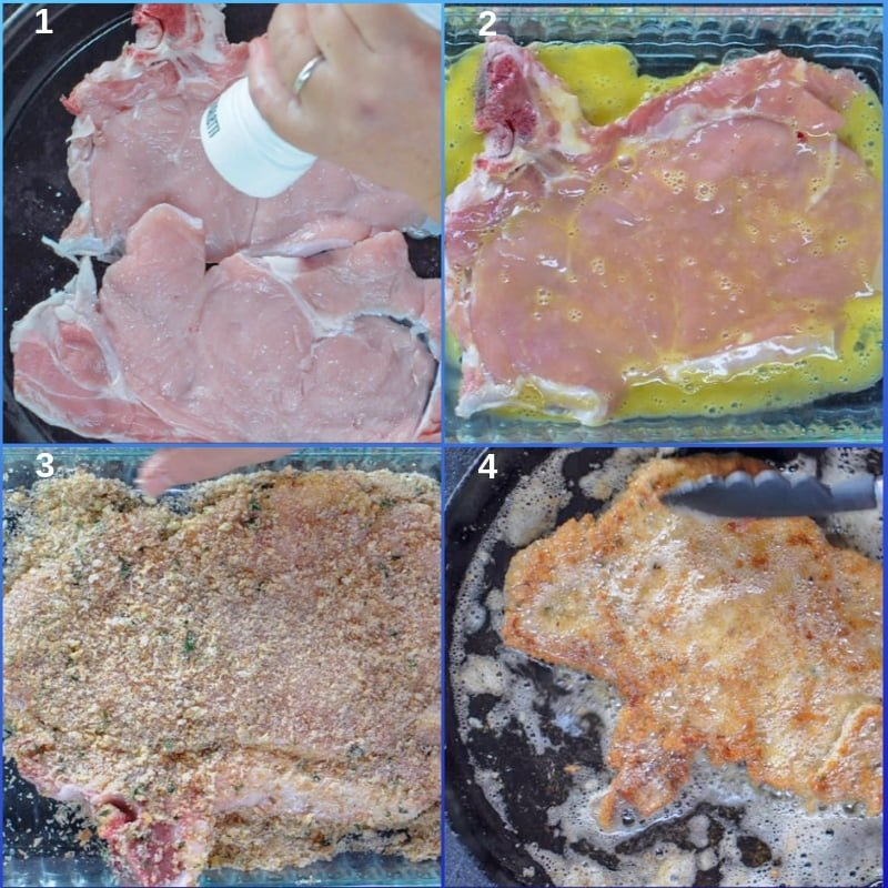 Step by step veal Milanese