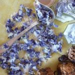 If you don't use any chemical treatment in your garden, have your own Violets Festival, here is the Crystallized Violets Recipe. #yourguardianchef #recipe #homemade
