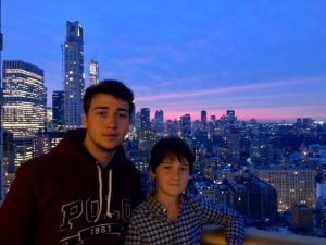 My sons Liam and Francesco