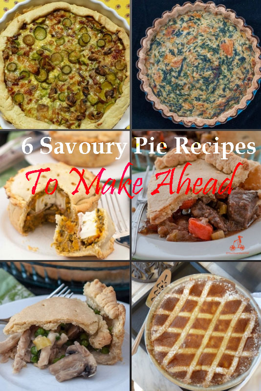 Quiche, Tart, Pizze Rustiche, Pie recipes are perfect for dinner parties or buffets as you can prepare the filling and the pastry ahead of time and just cook them before the party. Here are 6 ideas #yourguardianchef #quicherecipes #squashrecipes #easterrecipes #pierecipes