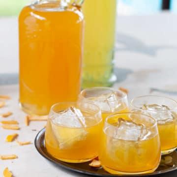 orange liquor served in small glasses
