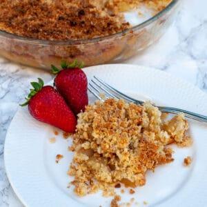 overripe pear crumble