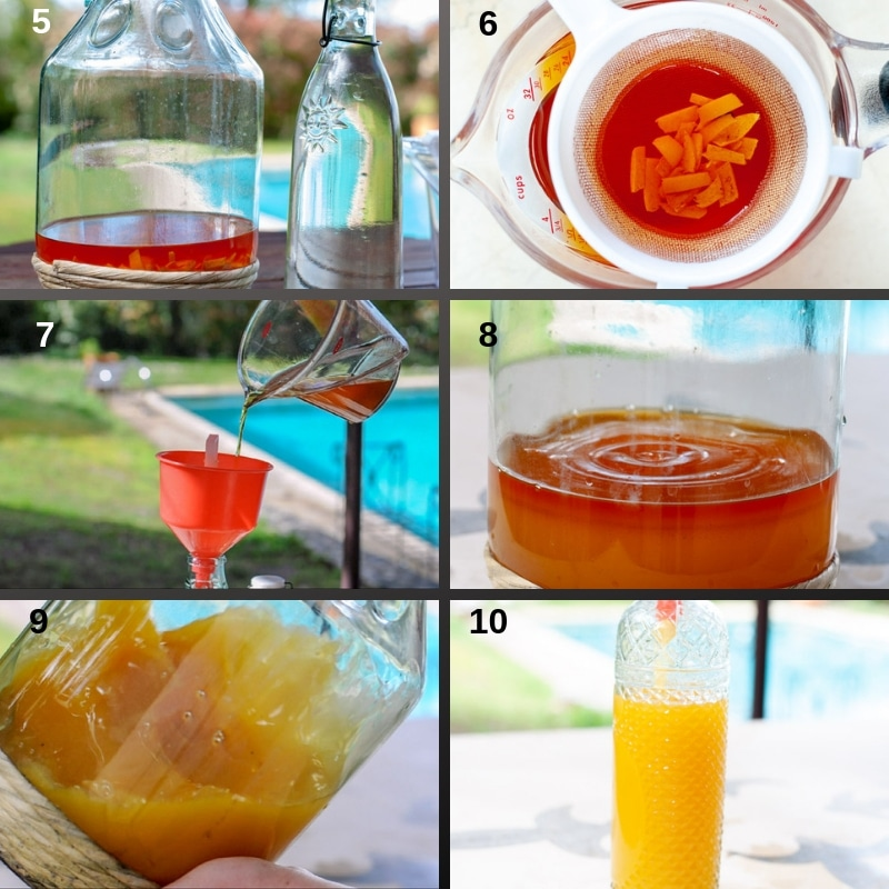 Step by Step making orange liqueur