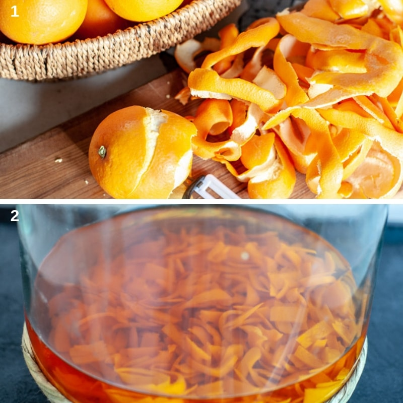 process shoots for infusing orange peels