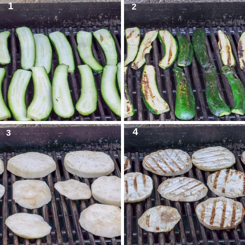 grilling zucchini and eggplants