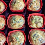 Baked frittata mushrooms in silicon cupcakes