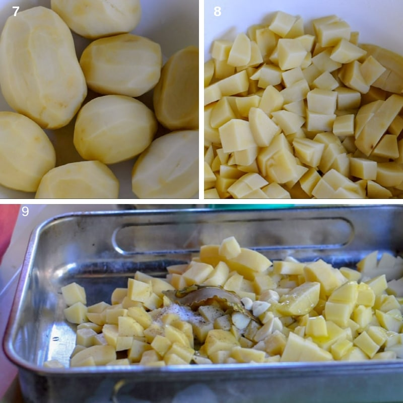 step by step prepare the potatoes for baking