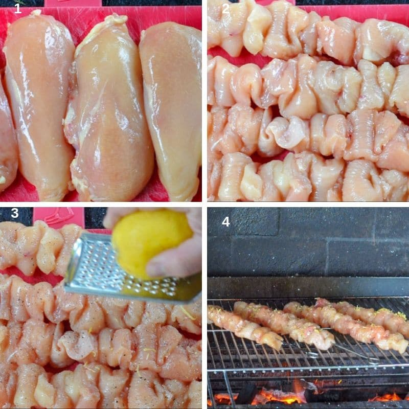 step by step preparing the chicken breast for the bbq