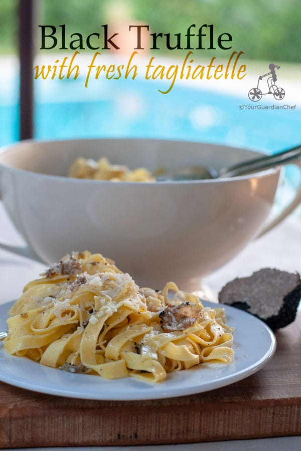 This simple black truffle recipe will make you fully appreciate the earthy taste of the famous black truffle - effectively a wild mushroom. Fresh tagliatelle, butter and freshly grated Parmigiano Reggiano is all you need to make the most of its oaky, nutty and world celebrated flavour.