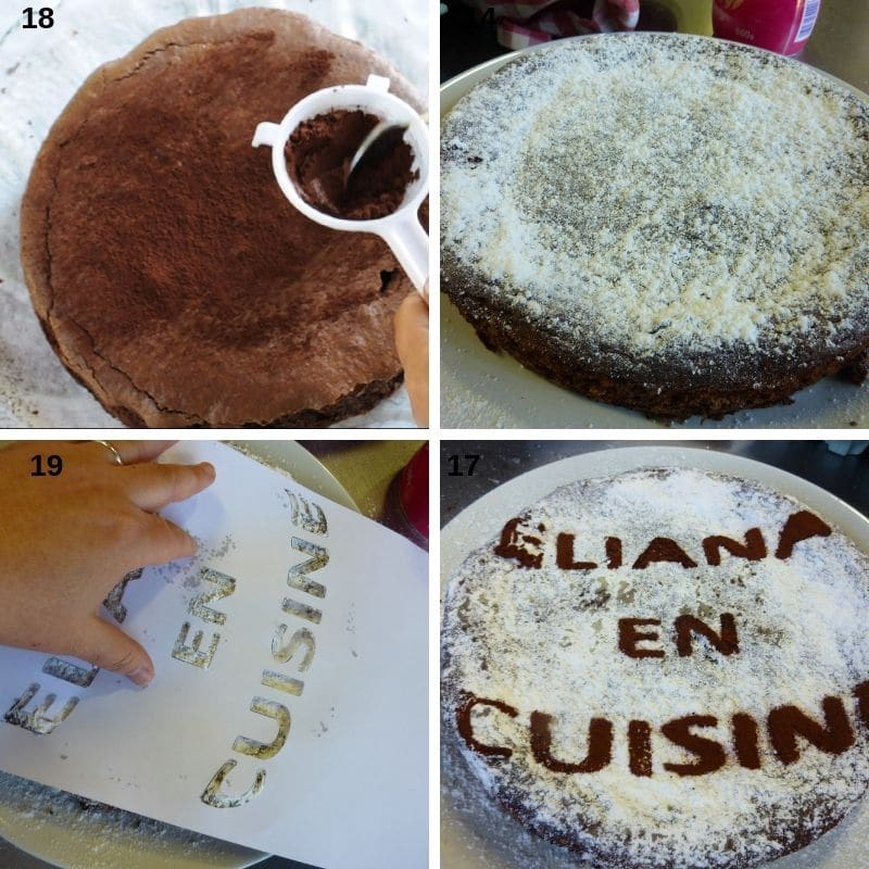 Samples of how to decorate the cake