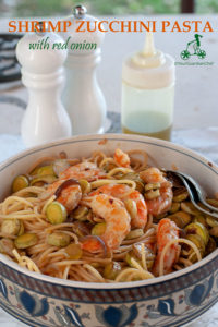 Shrimp zucchini pasta is a delicious one-dish summer meal you can make for family and friends. Use any other type of zucchini, the combination is great.