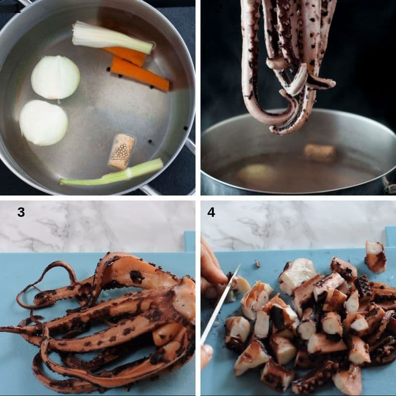 Cook the octopus