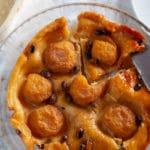 peach tarte tatin calvados pistachios