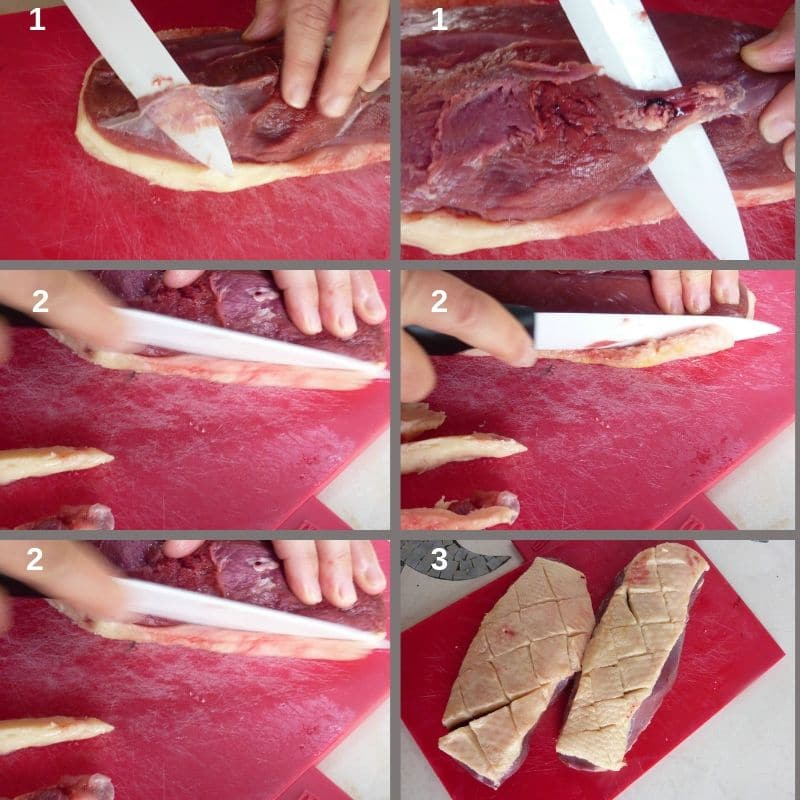 How to clean a duck breast