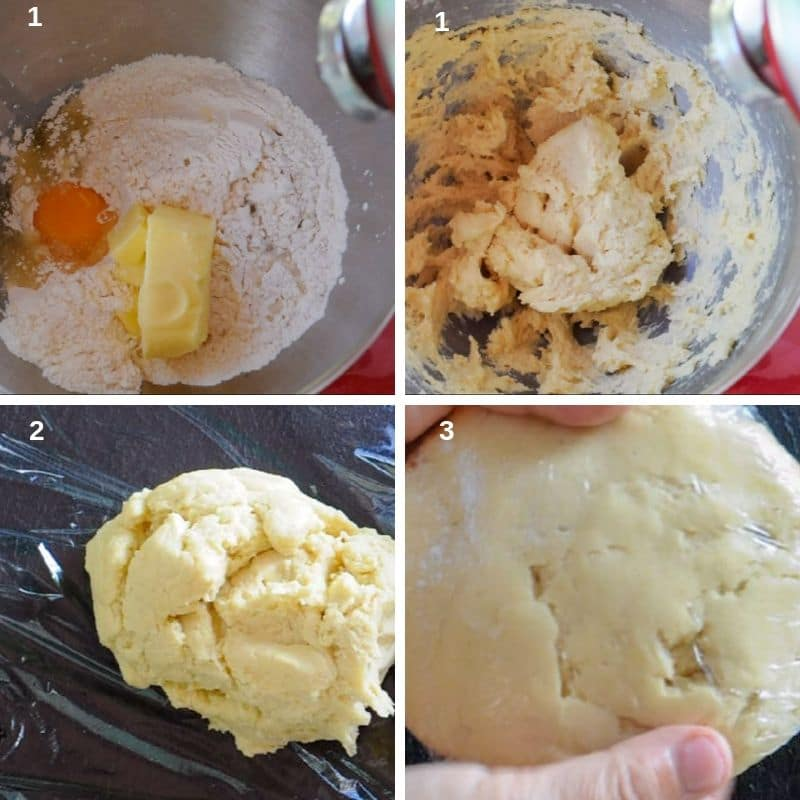Preparing the short pastry