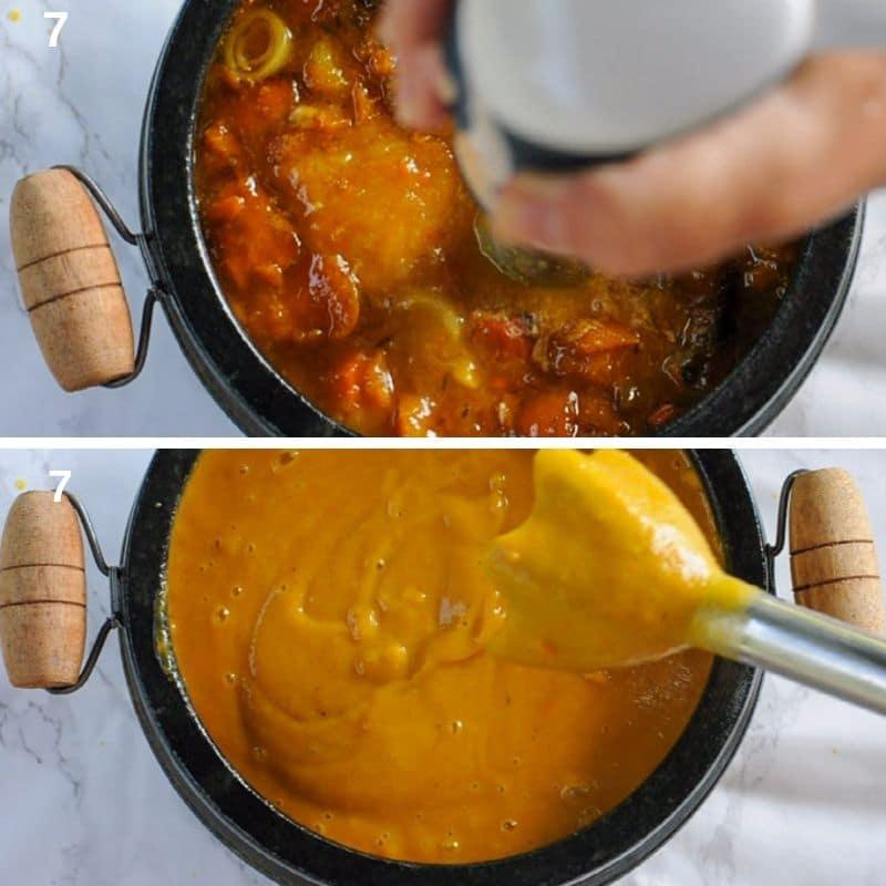 Blending the soup