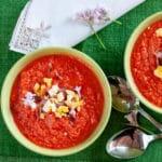 Fresh tomato soup Salmorejo