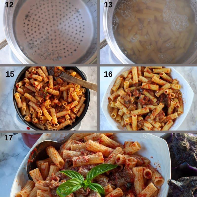 making pasta alla Norma
