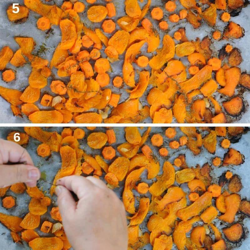 roasting the pumpkin
