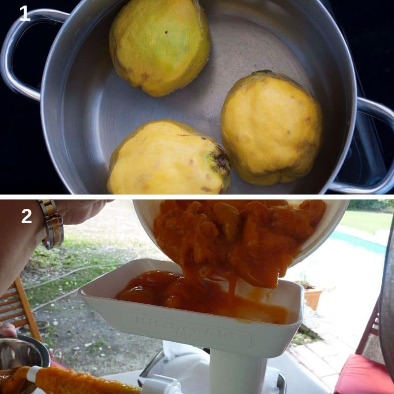 Cooking the quince