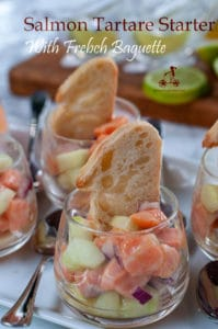 Salmon Tartare is a fresh and light starter, ideal to serve at the beginning of a seafood dinner. Fresh, light and citrusy, it is so easy to make. Serve it in small cups with a slice of baguette, it is also perfect for a standing buffet party.