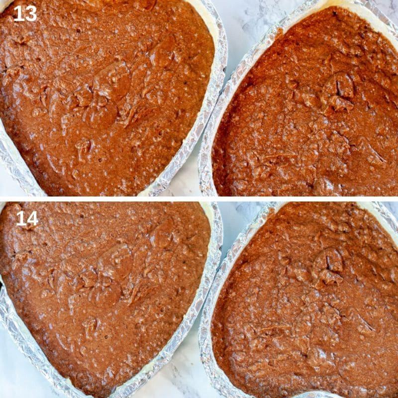 Baking the chocolate sponge