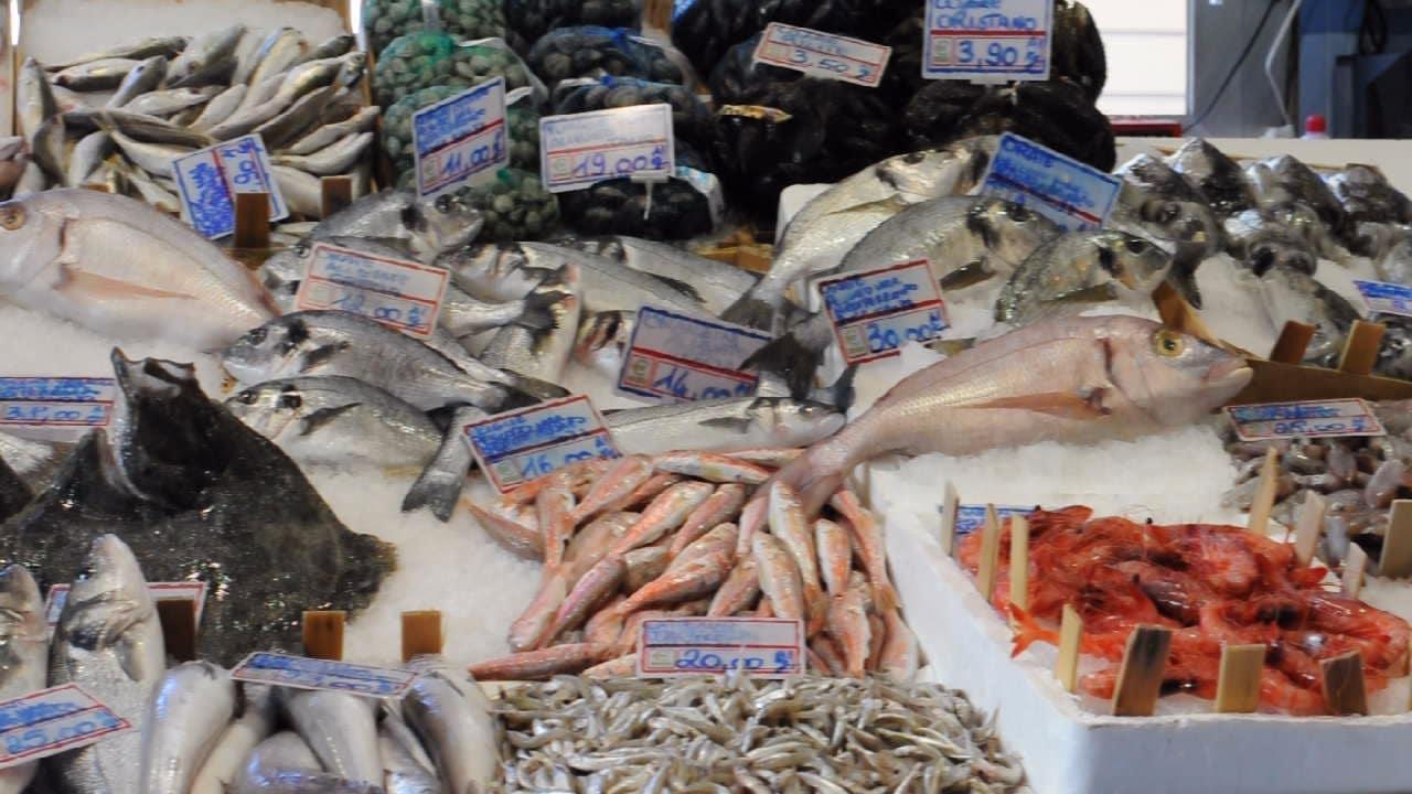 Italian fish market stand