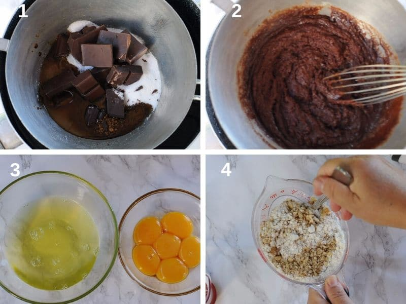 Prepare the ingredients for the sponge cake