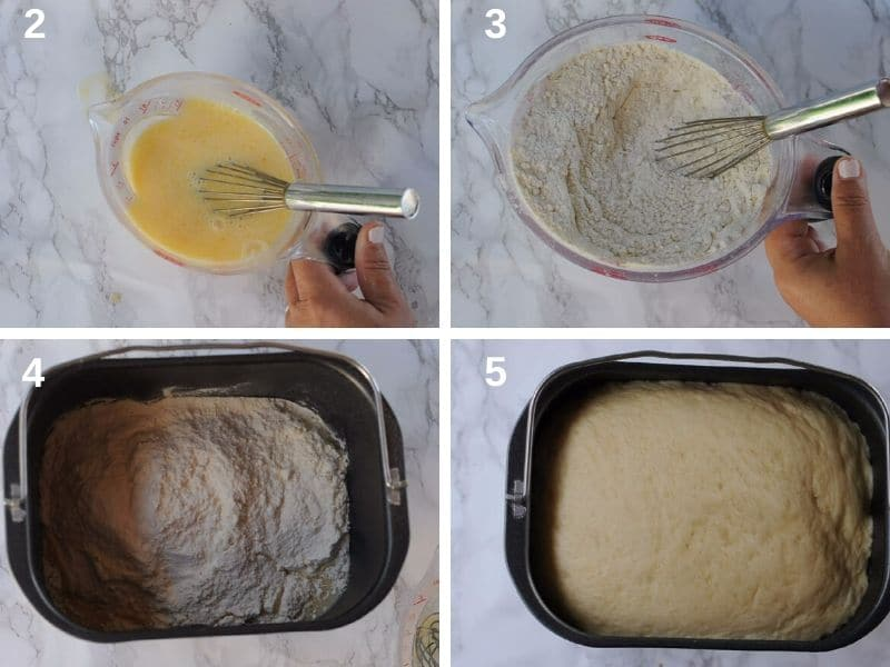 make the dough in the bread machine