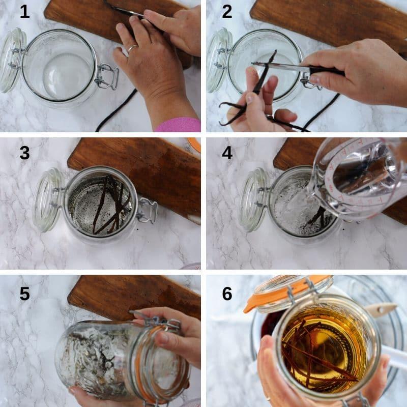 Brewing the vanilla into alcohol