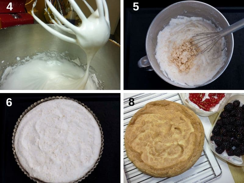 Making the almond meringue