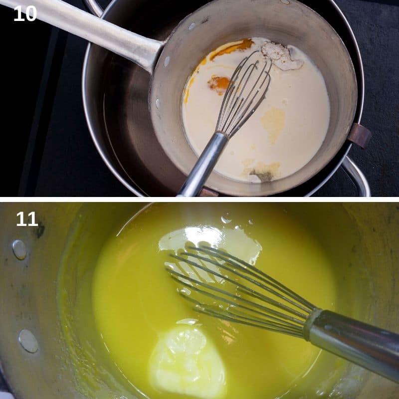 Making the custard cream