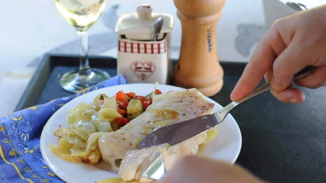 Healthy Cod Recipe cut