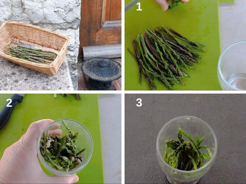 Cooking wild asparagus
