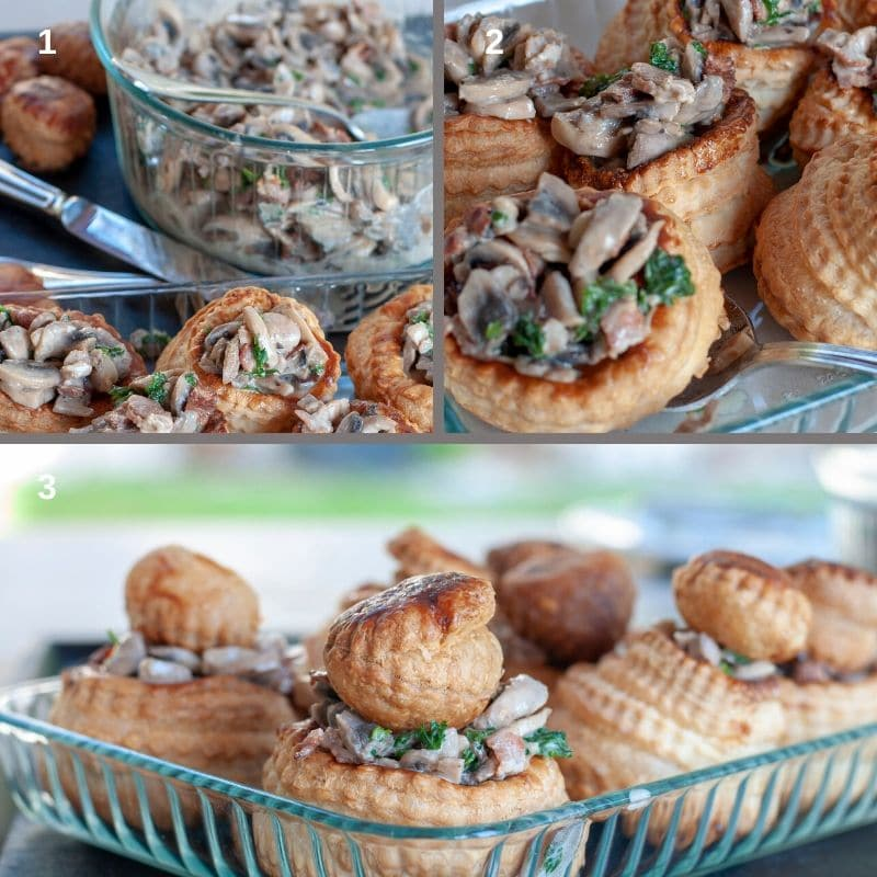 How to serve vol au vent