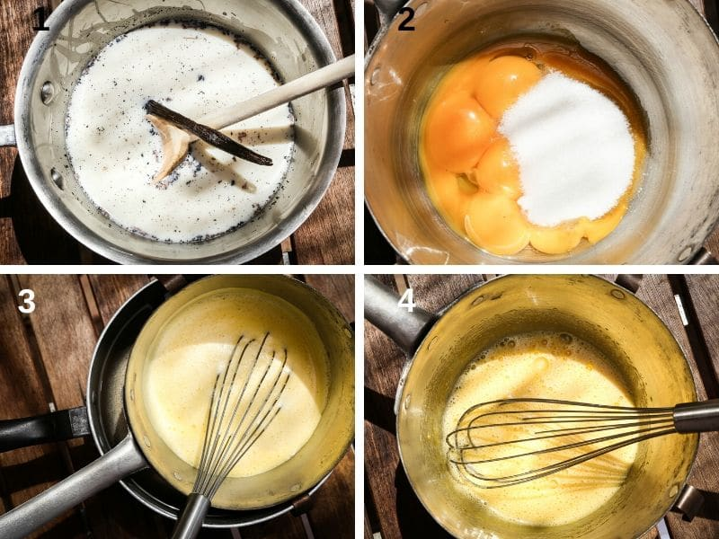 Making custard