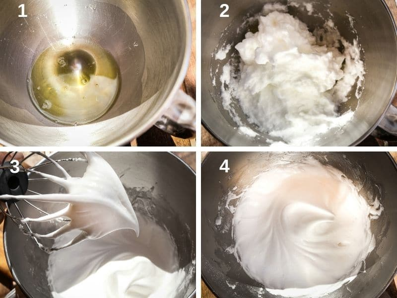 making the meringue