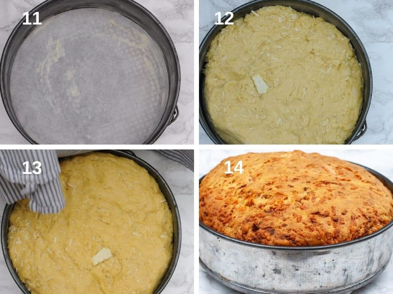 Baking the Italian cheese bread