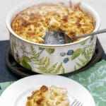 Baked tortellini souffle is the ultimate fancy dish you can serve for a special occasion. Crunchy, creamy, and exquisite, everyone will ask for more. Raise your culinary skills to a higher level and give it a try, it is not that difficult to make.