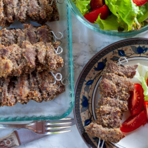 Sicilian beef braciole on a plate