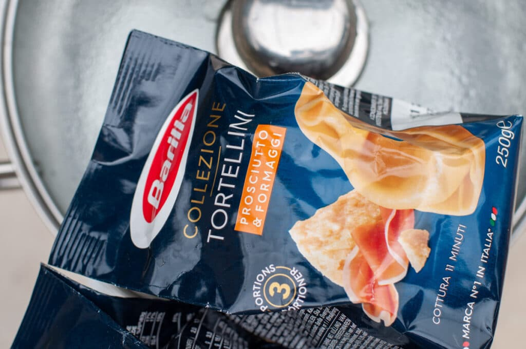 Package of Tortellini Barilla