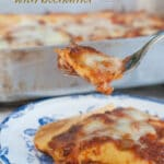 This traditional lasagna bolognese sauce and bechamel is made from scratch but with the use of the pressure cooker and no-boil lasagna sheets, it is very easy to make.