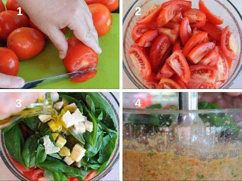 making red pesto