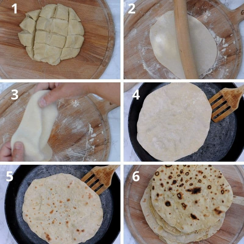 Making the wraps