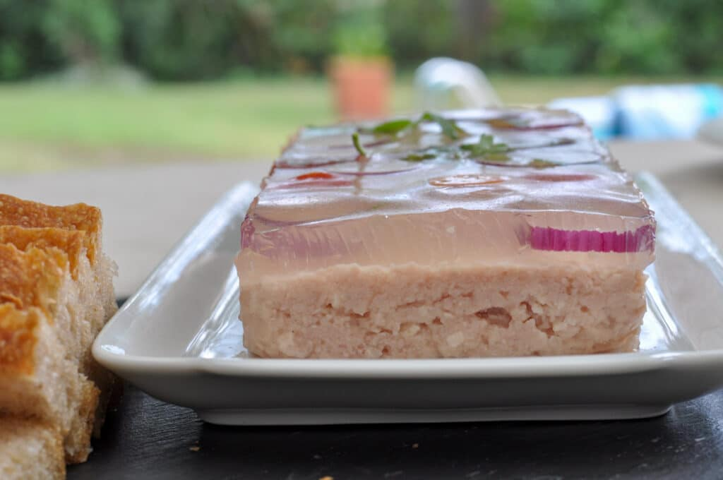 gelatin on the terrine
