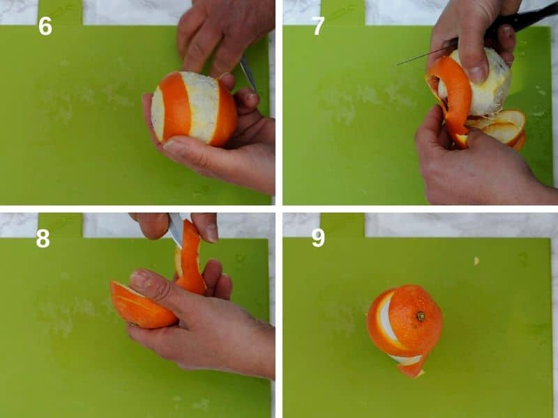 remove the peel from the orange