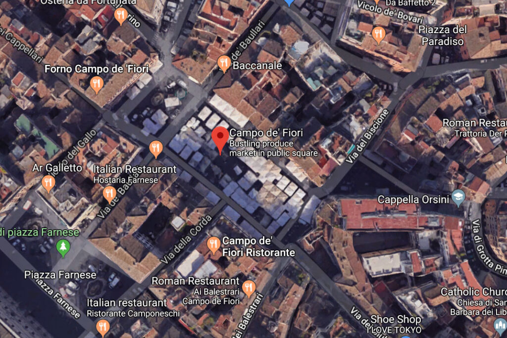 Campo de'Fiori on google map